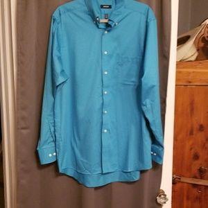 Izod mens button down shirt size Large